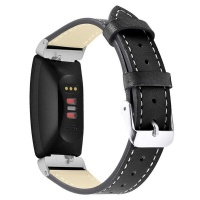 Tuff-Luv Leather Strap for Fitbit Inspire/Inspire HR - Large - Black Photo