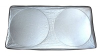 SUV/Xl Front Window Spring Shade Silver/Black For Larger Vehicles Photo