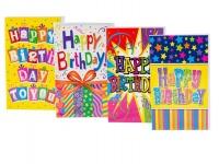 Bulk Pack x 4 Birthday Card & Envelope - Brights Photo