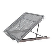 Adjustable Laptop Table Stand - Grey Photo