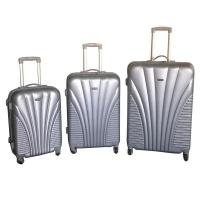 3 Piece Blue Star Luggage Set - Silver Photo
