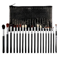 19 Pieces Colorful Pro Makeup Brushes Set With PU Carry Bag Photo