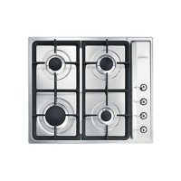 Smeg 60cm Stainless Steel Classic 4 Burner Gas Hob - PS60GHC Photo
