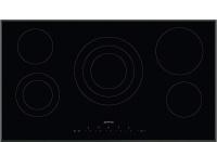 Smeg 90cm Black Glass with Angled Edge Ceramic Hob - SE395ETB Photo