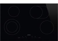 Smeg 77cm Black Glass with Straight Edge Ceramic Hob - SE384EMTD Photo