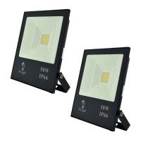 Set of 2 Dr Light 50W FLY SMD Slim LED Flood Lights for Outdoor Photo