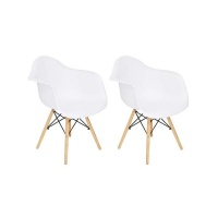 Mad Chair Company Replica Del Eames Eiffel - Arm Chair/Wood Leg - Set of 2 Photo