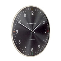 THOMAS KENT 40cm Oyster Metal and Glass Dome Lens Round Wall Clock Photo