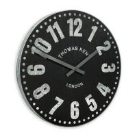 Thomas Kent 38cm Wharf Open Face Round Wall Clock - Black Photo