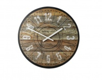 THOMAS KENT 76cm Wharf Cotton Mill Mantel Round Wall Clock - Brown Photo