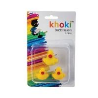Bulk Pack x 6 Eraser Novelty Ducks 3 Pieces Per Pack Photo