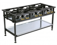 Anvil Boiling Table Gas - Commercial - 6 Burner Staggered Photo