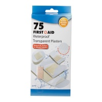 Bulk Pack x 6 Firstaid Plaster Transparent 75 piecess Per Pack Assorted Sizes Photo