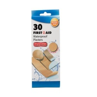 Bulk Pack x 6 Firstaid Plaster Beige 30 piecess Per Pack Assorted Sizes Photo