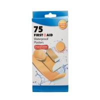 Bulk Pack x 6 Firstaid Plaster Beige 75 piecess Per Pack Assorted Sizes Photo