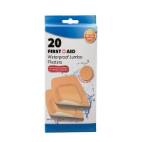 Bulk Pack x 6 Firstaid Plaster Beige 20 pieces Per Pack Jumbo 5x10cm Photo