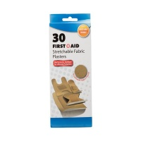 Bulk Pack x 6 Firstaid Plaster Fabric 30 piecess Per Pack Assorted Sizes Photo