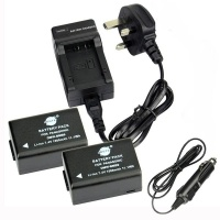 2-Pack Spare Battery & DC108U Travel Charger Kit Photo