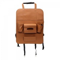 Jeronimo PU Leather Car Seat Organiser - Brown Photo