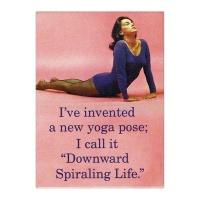 Fridge Magnet - I've invented a new Yoga Pose Photo