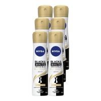 NIVEA Deo Black & White Silky Smooth Anti-Perspirant Spray - 6 x 150ml Photo