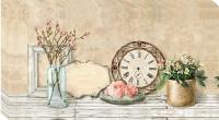 Flower Market Wall Clock Photo