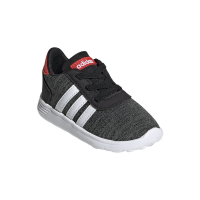 adidas Junior Lite Racer Running Shoes - Black/White Photo