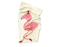 Fox Fable Floppy Flamingo Blanket in Gift Tin - Sand Photo