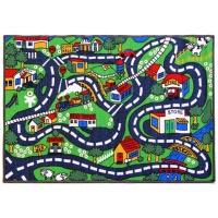 Lush Living - Road Map - 80 x 120 - Kids Rug Photo