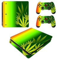 SKIN-NIT Decal Skin For PS4 Slim: Rasta Weed Photo