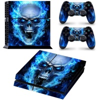 SKIN-NIT Decal Skin For PS4: Blue Skull Photo