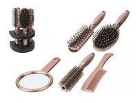 5 Piece Hairbrush Set - Rose Gold Photo