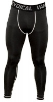 Men's Running Pants Compression Tights Black Photo
