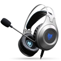 NUBWO N2 7.1 Virtual Surround Sound Gaming Headset - Silver Photo