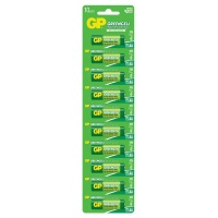 GP Batteries 1.5V AA Carbon Zinc Green Cell Batteries Card of 4 Photo