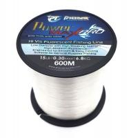 Pioneer Power Max Pro Fluorescent 600m Fishing Line - 6.8kg / 0.30mm / 15lb Photo