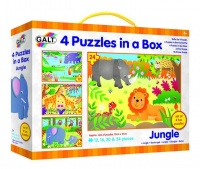 Galt Toys 4 Puzzles In A Box - Jungle Photo