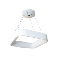 Mr Universal Lighting - White Square Halo LED Hanging Ceiling Light Photo