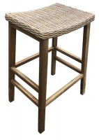 Zen Bar Stool-Wicker Seat- Flat Pack Photo