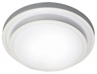White Polycarbonate Fluorescent Fitting with Silver Edge Photo