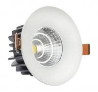 COB LED Down Lighter in White Finish Photo