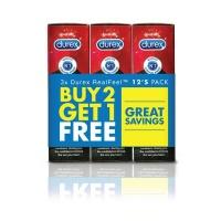 Durex Condoms - Reel Feel 12s - Buy 2 Get 1 Free Photo