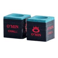 Omin Pool Cue Chalk - Green - Box of 2 Photo