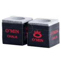 Omin Pool Cue Chalk - Grey - Box of 2 Photo