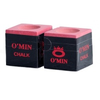 Omin Pool Cue Chalk - Red - Box of 2 Photo