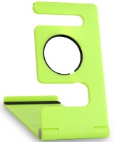 Portable Universal Desktop Phone Holder & iWatch Charging Stand- Lime Green Photo