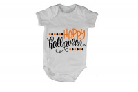 Happy Halloween - Dots - SS - Baby Grow Photo