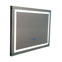 Linea Luce LED Bathroom Mirror with Clock Temperature & Touchscreen 80X60 Photo