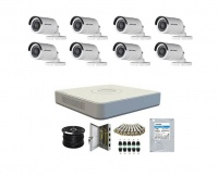 Hikvision 1080P 8 channel DVR and 8 Camera CCTV Kit - IRF Cameras Photo