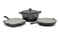 Fine Living - 4 Piece Cast Iron Set - Grey Photo